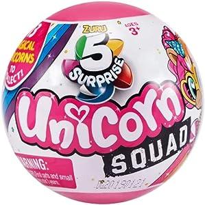 5 Surprise Unicorn Squad Mystery Collectible Capsule by Zuru - 1 Ball