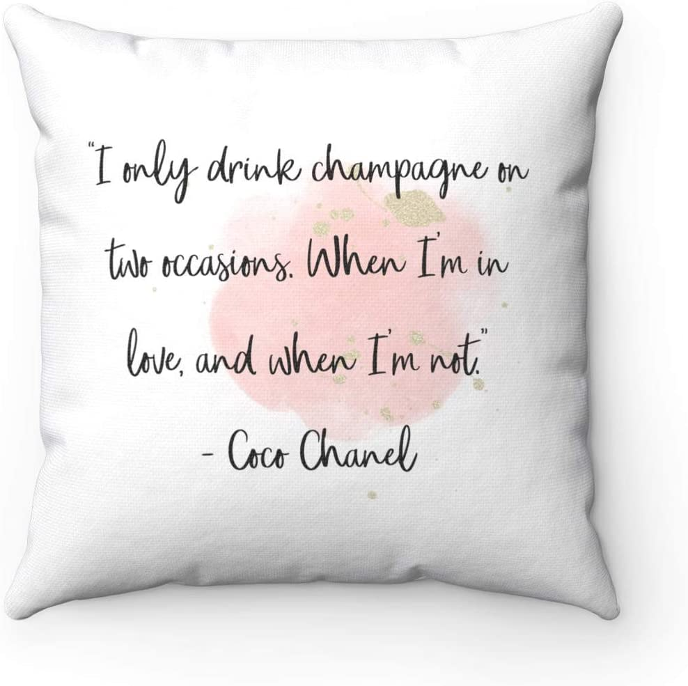 Cuscini Chanel.Myrwer2k Coco Chanel Federa Per Cuscino Con Citazione I Only