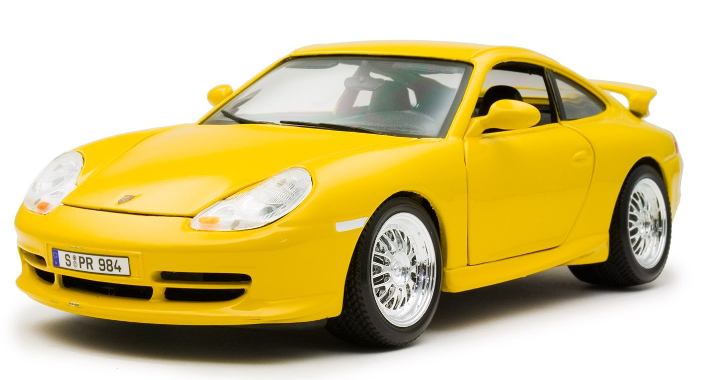 1/18 die-cast miniature cars Porsche 911GT3 Street 1997 yellow (japan import)