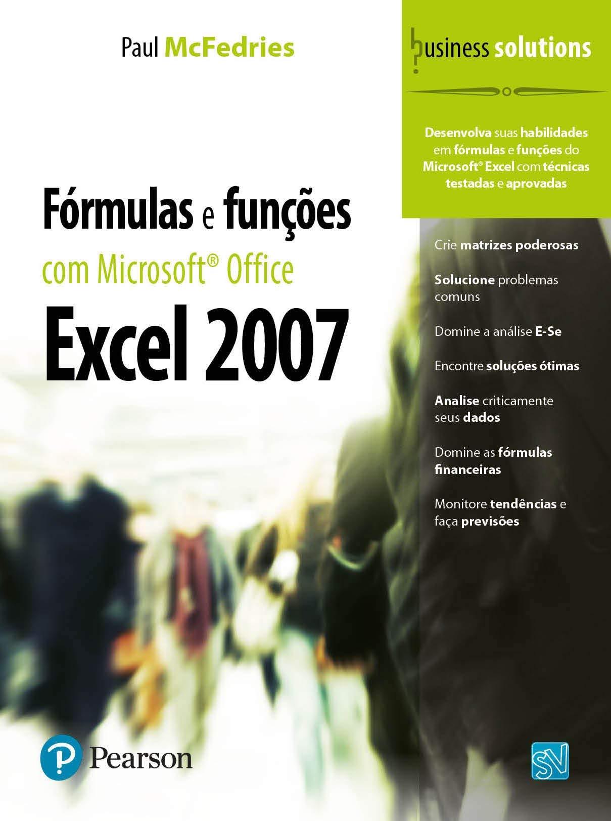 Fórmulas e Funções com Microsoft Office Excel 20 Em Portuguese ...