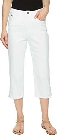 8ad3f7cc52 FDJ French Dressing Jeans Women s Sunset Hues Suzanne Capris in White White  12 21