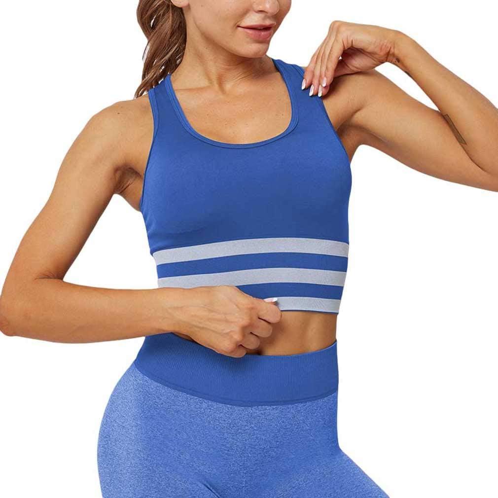 Mxssi Reggiseni Sportivi Senza Cuciture Donna Reggiseni Palestra Antiurto ad Alta Resistenza Abiti Sportivi Allenamento Femminile Yoga Fitness Top