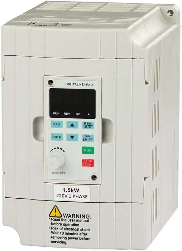 LAPOND SVD-ES Series Single Phase VFD Drive VFD Inverter Professional Variable Frequency Drive 1.5KW 2HP 220V 7A for Spindle Motor Speed Control(VFD-1.5KW)