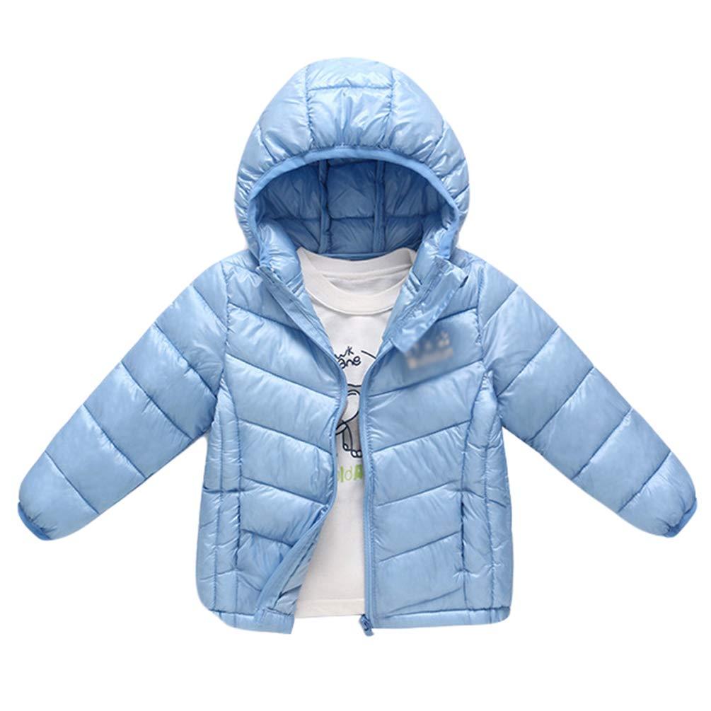 JEELINBORE Baby Toddler Lightweight Hooded Puffer Winter Jacket Kids Boys Girls' Packable Down Coat