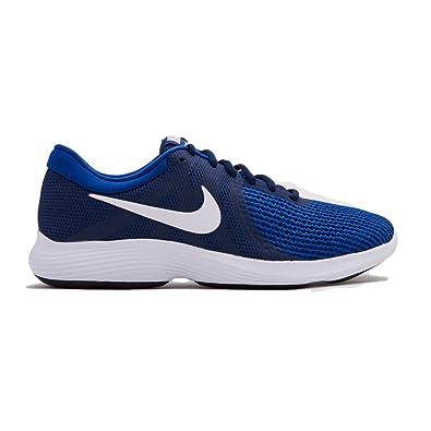 Nike Revolution 4 EU, Chaussures de Running Homme, Bleu (Midnight Navy/White/Deep Royal 414), 40 EU