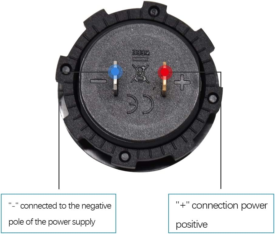 Truck and Ship Voltage Measurement Voltage Ammeter Measurement with LED Display DC 5-48V Digital Voltmeter Ammeter Suitable for Automotive Motorcycle