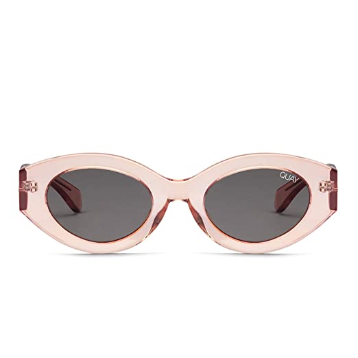 0333cf66e62 Quay Australia SEE ME SMILE Women s Sunglasses Thick Frame Cateye -  Rose Smoke