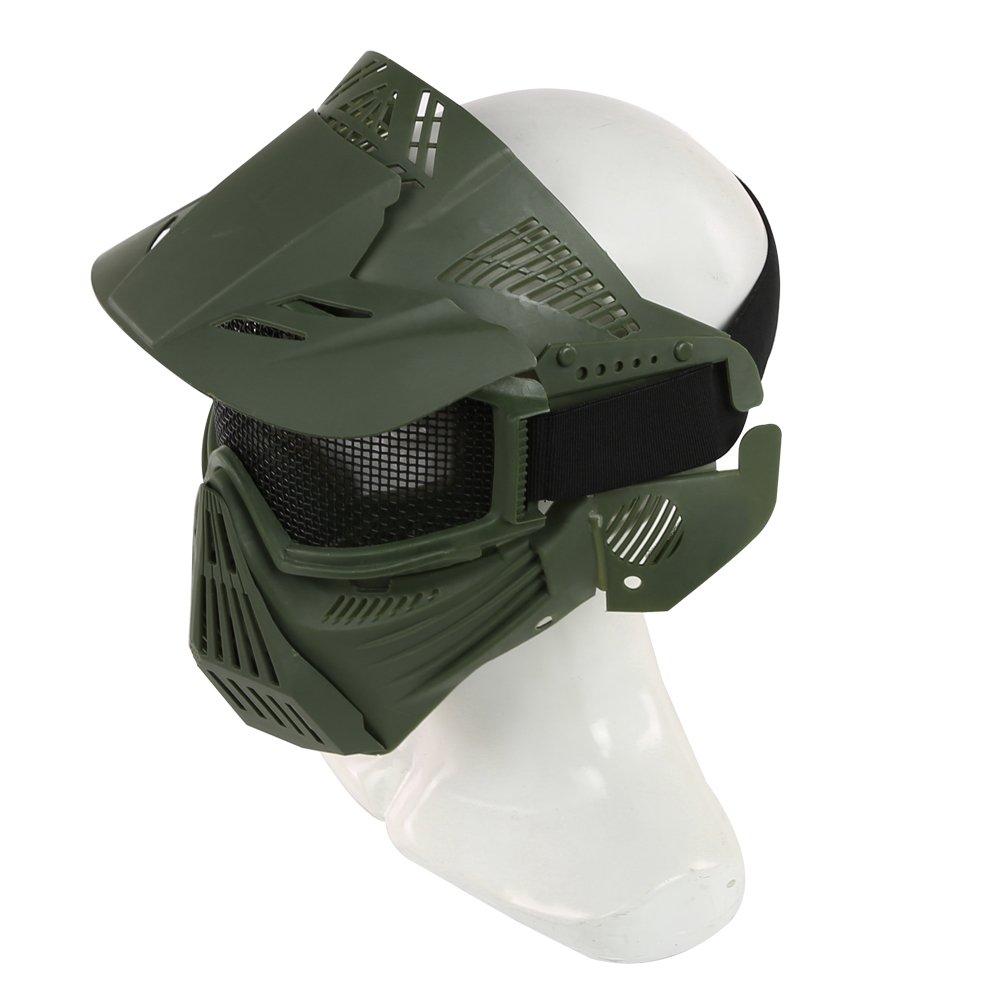 SGOYH Plein Visage Tactique Airsoft Mesh Masque V/êtement De Protection pour Protection Paintball Halloween Costume Accessoires