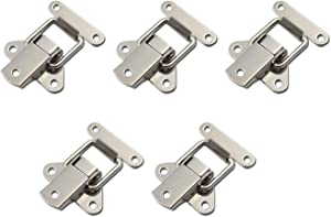 FarBoat Hardware 5Pcs Stainless Steel Hasp Toggle Clamp Latch Buckle for Case Jewelry Wood Box Trunk with Screws(40x50mm/1.6x2inch)