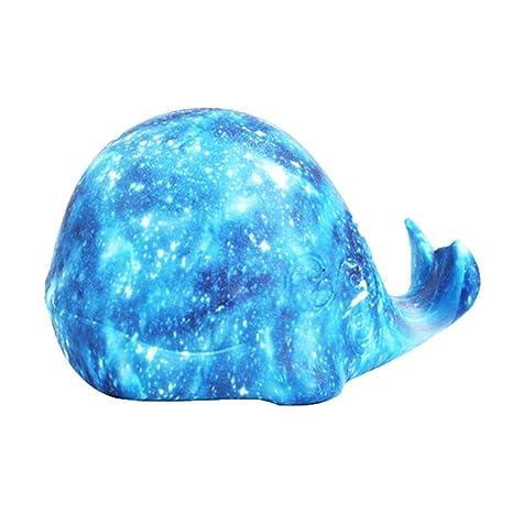 Yishelle Iluminación Nocturna Whale Starry Lights Impresión 3D Luz ...