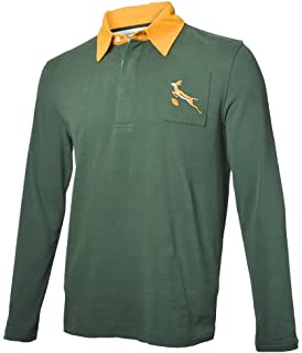 81814c45c10 Springboks South Africa LS Rugby Jersey: Amazon.co.uk: Sports & Outdoors