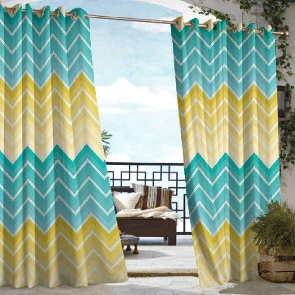 DILITECK - Cortina con Ojales y diseño de Mosaico para Patio o ...