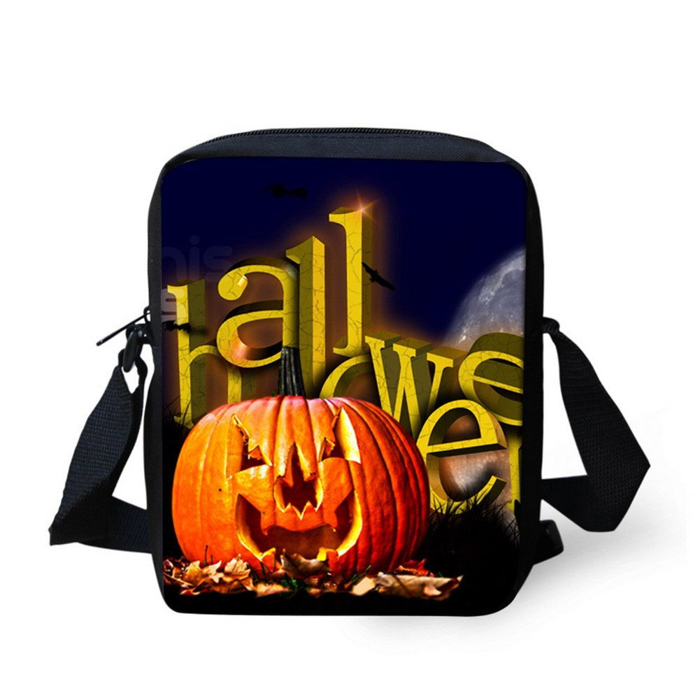 Coloranimal Halloween Bags Trick or Treat Candy Bags Pumpkin Mini Cross-body Handbags
