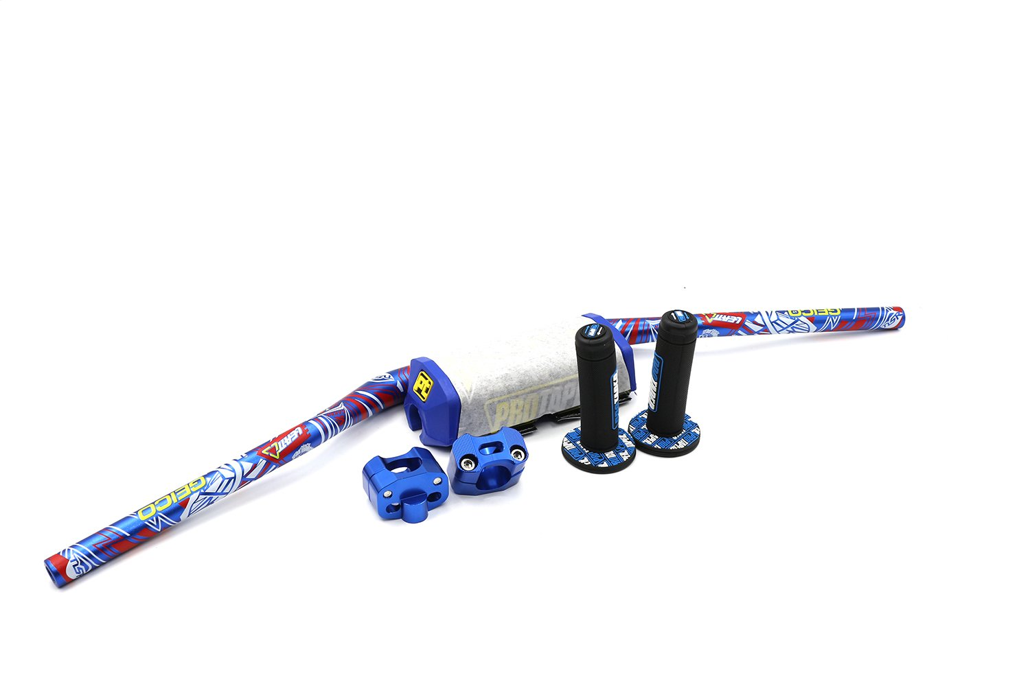 810mm motorcycle Pro Taper Fat Bar 1-1/8'' 28mm Pit Dirt Bike Handlebar Lower bar with handlebar balancer pad blue