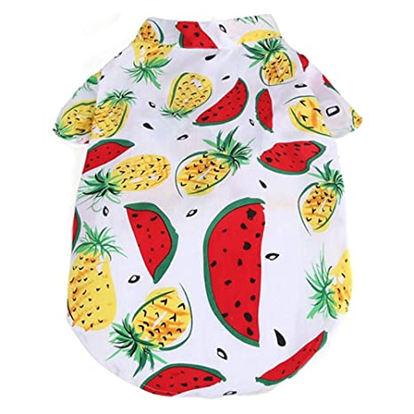 Ct Coutudi Hawaiian Dog Shirts Aloha Dog Shirt Pet Summer Cool Summer Flower Pineapple Shirt For Small To Medium Puppy Dog Cat by Ct Coutudi
