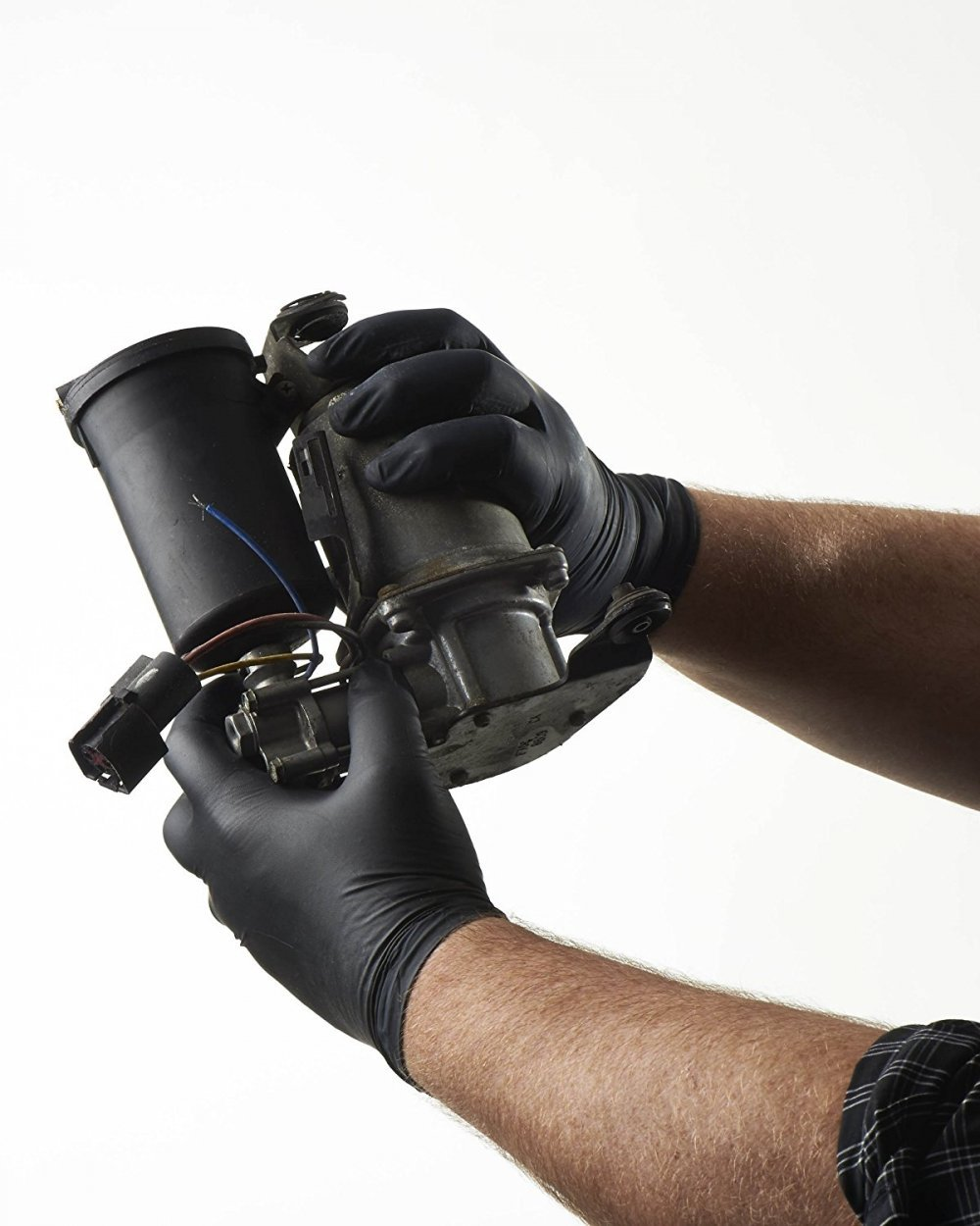 Black Nitrile Disposable Gloves, 5 Mil Thickness, Powder Free, Textured Fingertips, Latex Free, Heavy Duty (1000, Medium)