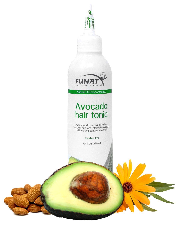 Funat Natural Avocado Extract Hair Tonic for Hairloss Control, Dandruff and PH Balance (7.7 oz)