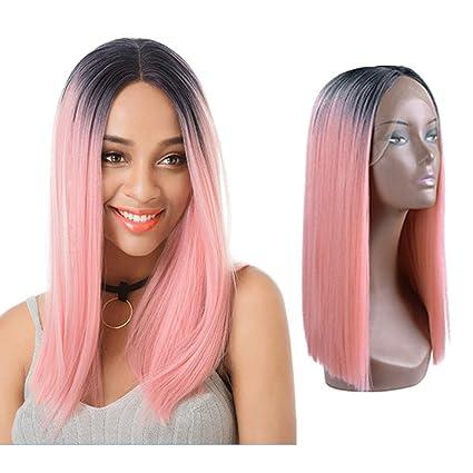 Peluca larga y recta para el cabello de la mujer, moda ...