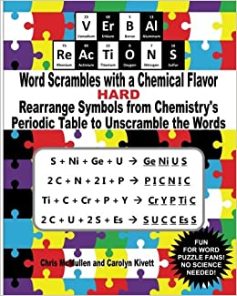 Verbal reactions word scrambles with a chemical flavor hard verbal reactions word scrambles with a chemical flavor hard rearrange symbols from chemistrys periodic table to unscramble the words chris mcmullen urtaz Image collections