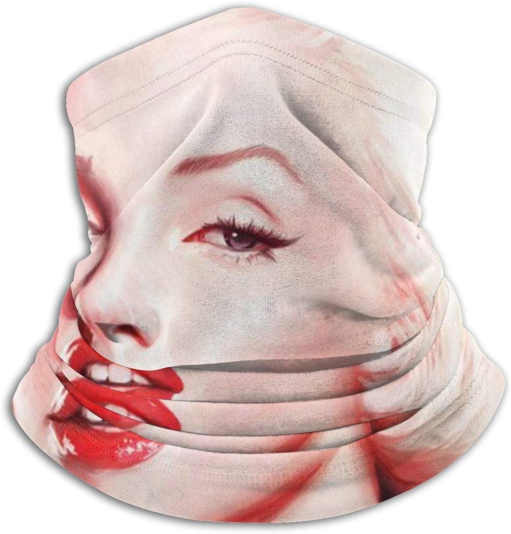 HUHAOCZ Marilyn Monroe - Máscara de protección para el cuello y la piel, superabsorbente de la humedad