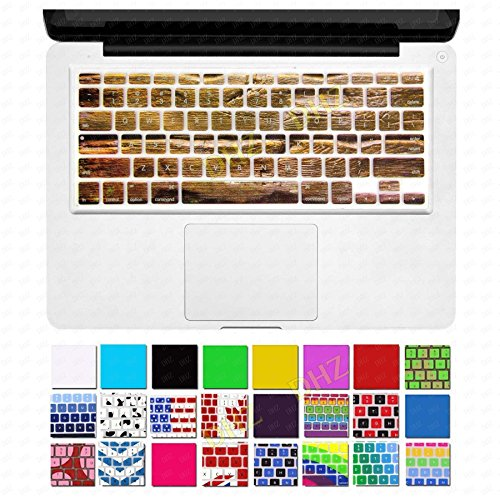 Wood Texture Silicone Keyboard Cover Skin Protector For Macbook Pro Air 13 15 17