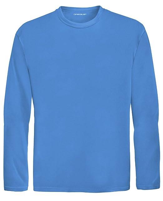 cb71f9a488dc Amazon.com: DRI-Equip Youth Long Sleeve Moisture Wicking Athletic Shirts,S-Carolina:  Clothing