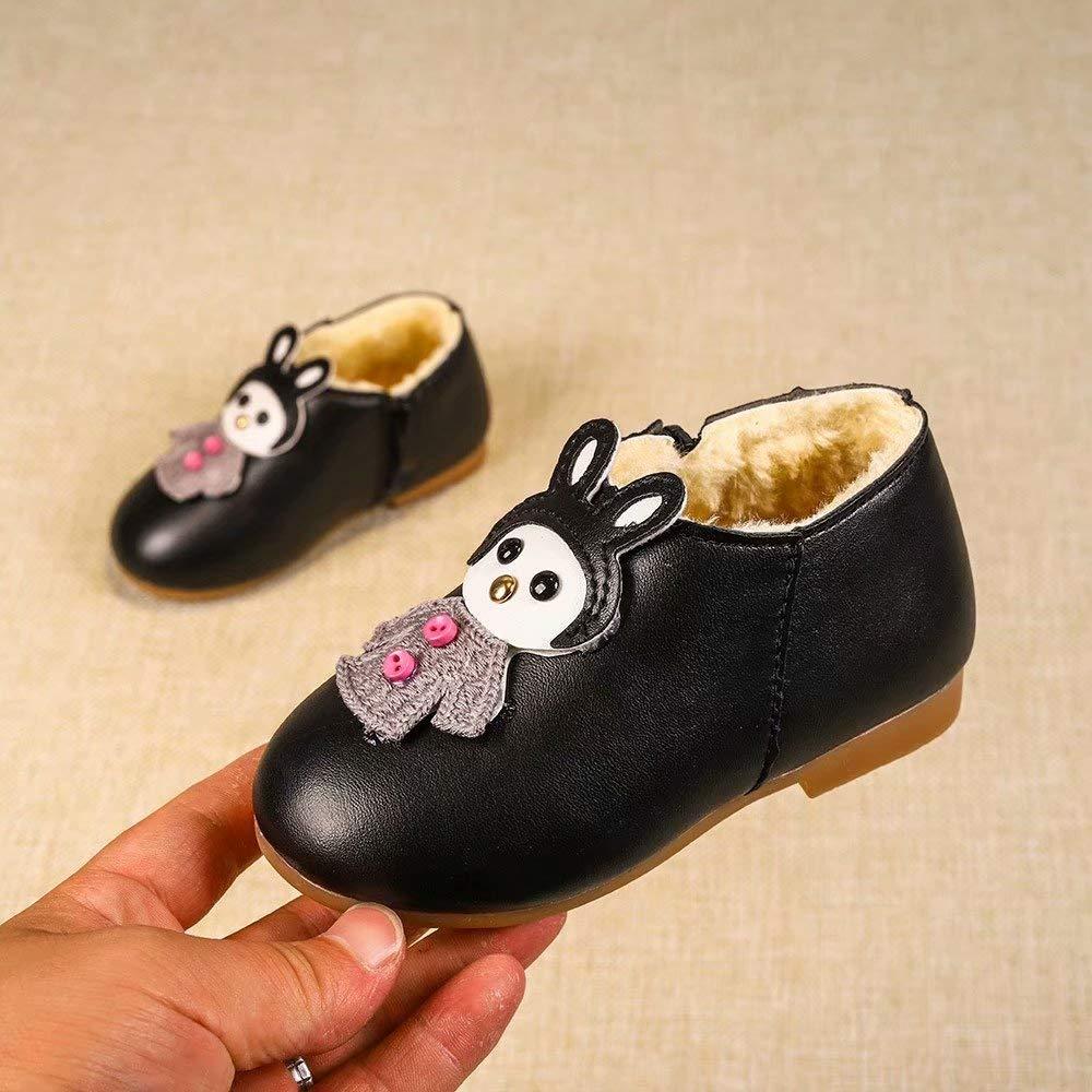 Girls Martin Boots Warm Cartoon Leather Sport Short Shoes Baby//Toddler// Little Kid