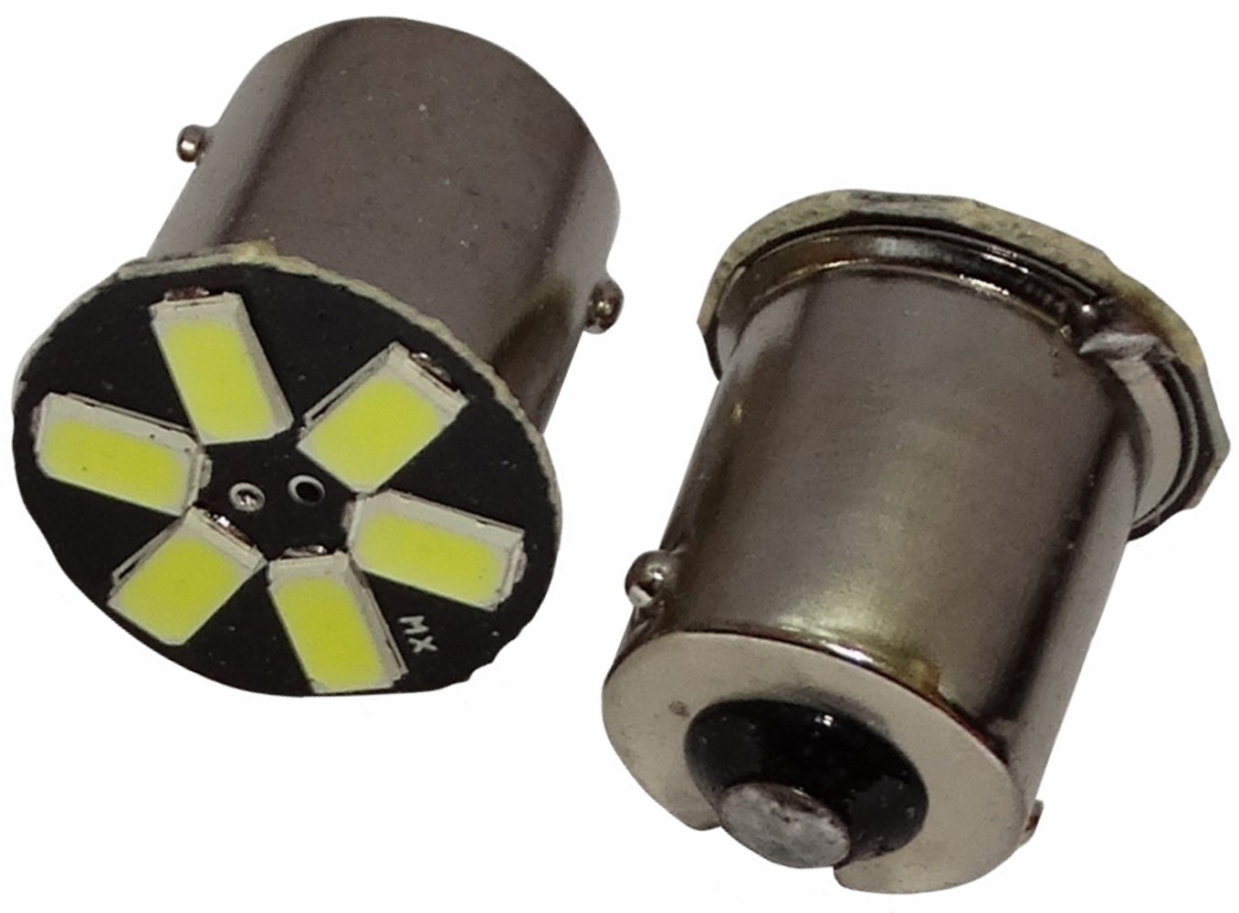 AERZETIX - 2 x Lampada P21W R5W R10W 12V 6 LED SMD con effetto Xenon bianco . SK2-C12200-B125