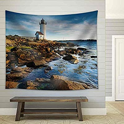 Quality Artwork, Fascinating Piece, Annisquam Lighthouse Massachusetts Fabric Wall