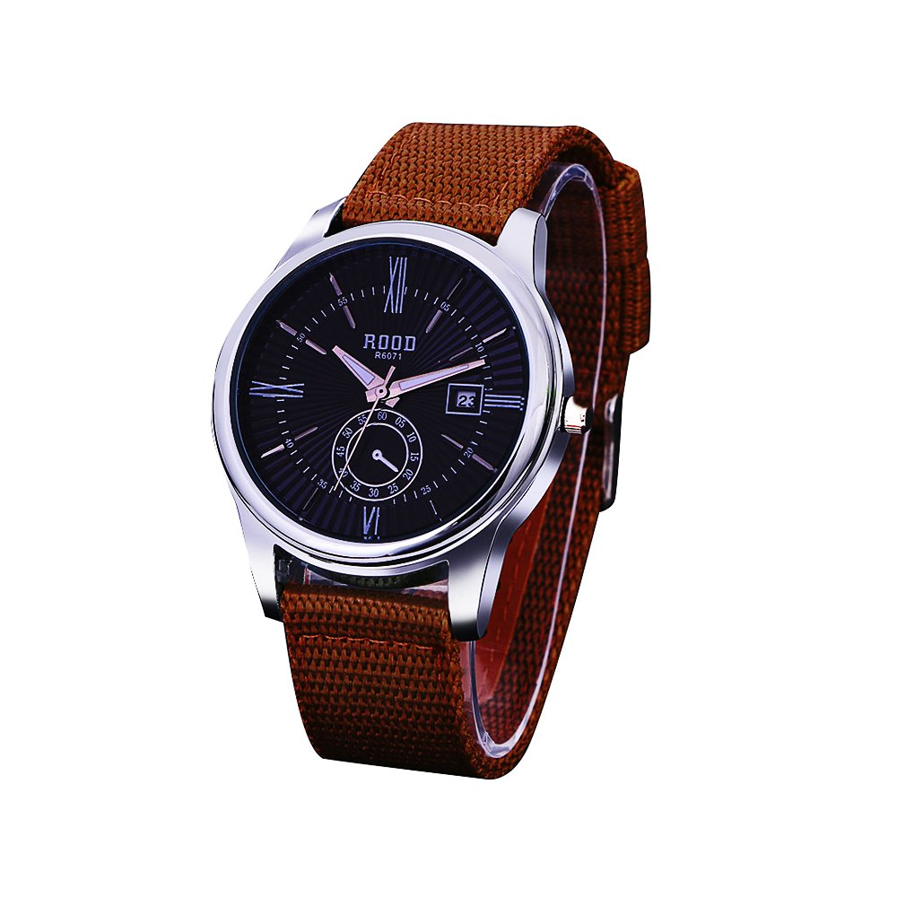 Hippih Men's Big Face Analogue Quartz Waterproof Wrist Business Casual Nylon .. 6