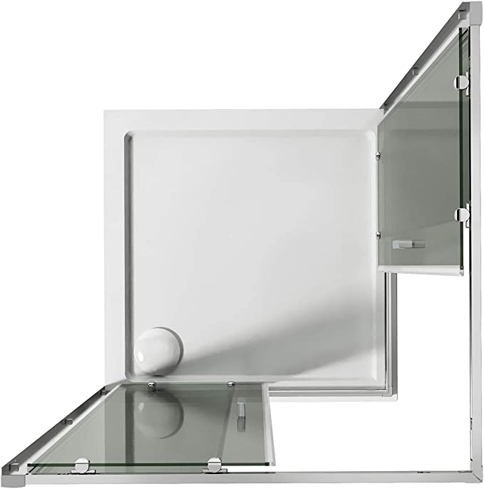 Idralite Box Mampara de Ducha Cuadrado 75x75 H185 Transparente 6mm Mod. Ready: Amazon.es: Hogar