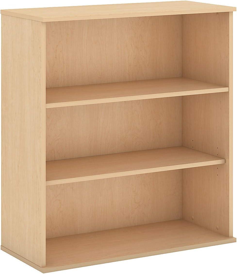 Bush Business Furniture 48H 3 Shelf Bookcase in Natural Maple