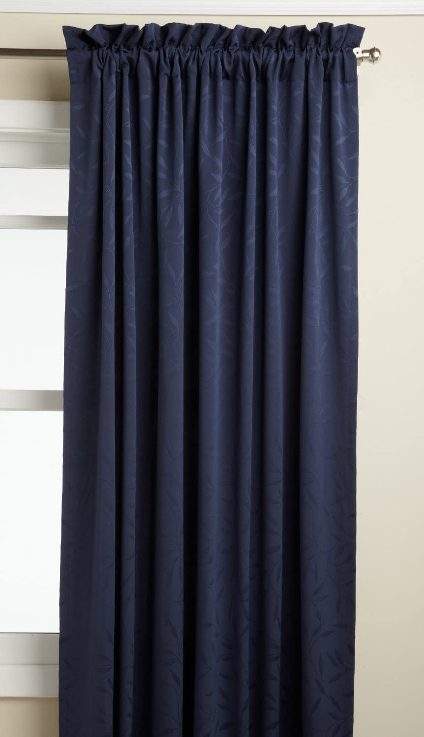 LORRAINE HOME FASHIONS Whitfield 52-inch by 72-inch Window Panel, Navy