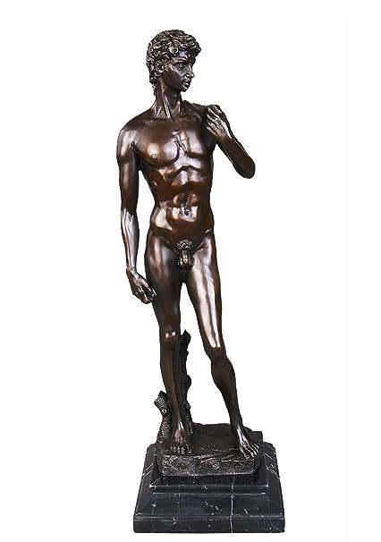 Amazon com: Toperkin Male Bronze Statue David Sculptures