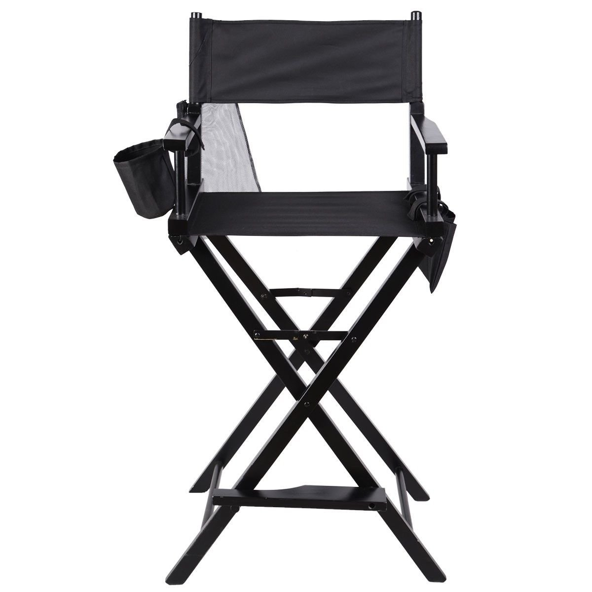 Professional Makeup Artist Directors Chair Wood Light Weight Foldable Black