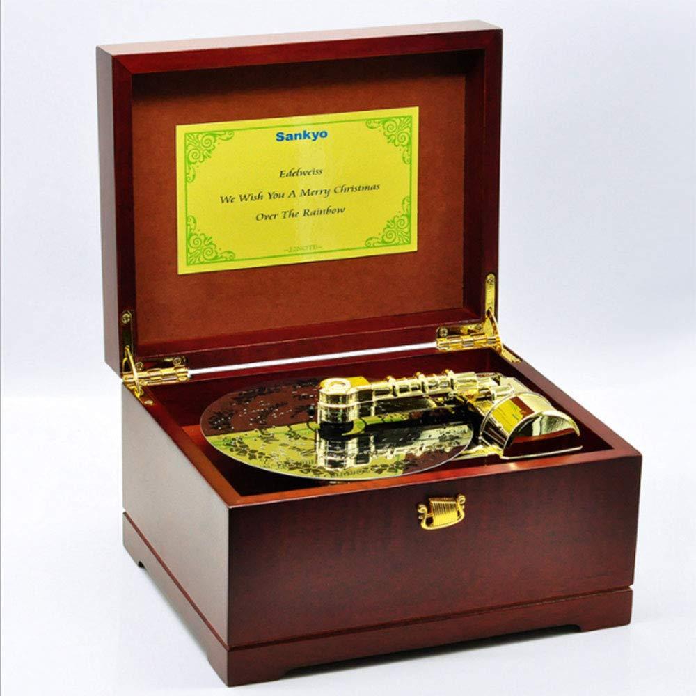 ZNHL Música Creativa Caja decoración 22 Tone Madera Tocadiscos ...