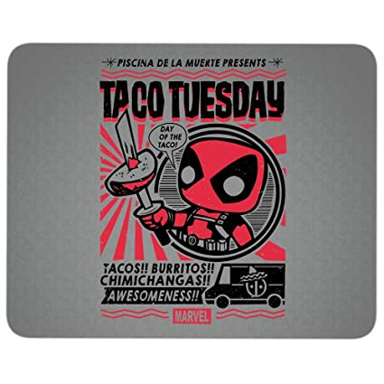 Amazon Com Deadpool Taco Tuesday Premium Textured Mouse Pad