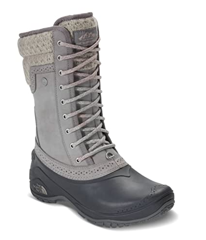 5527ec9df The North Face Women's Shellista II Mid Boot - Frost Grey & Evening Sand  Pink - 10