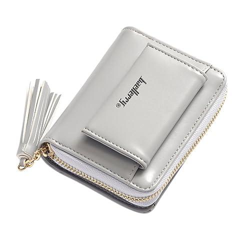 8840a1a4f9 Il borsellino,portafoglio,borsa donna, Donna Piccola Portafogli Nappa  Ciondolo Corta Mini Borsa