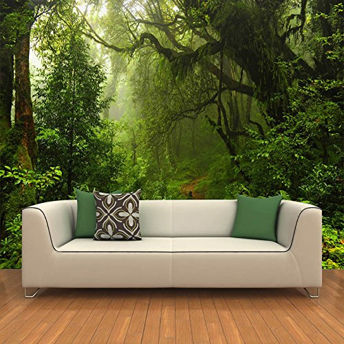 300cmX250cm Custom 3D Primeval Forest Wall Mural Photo Wallpaper Scenery For Walls 3D Room Landscape Wall Paper For Living Room Home Decor by ZLJTYN