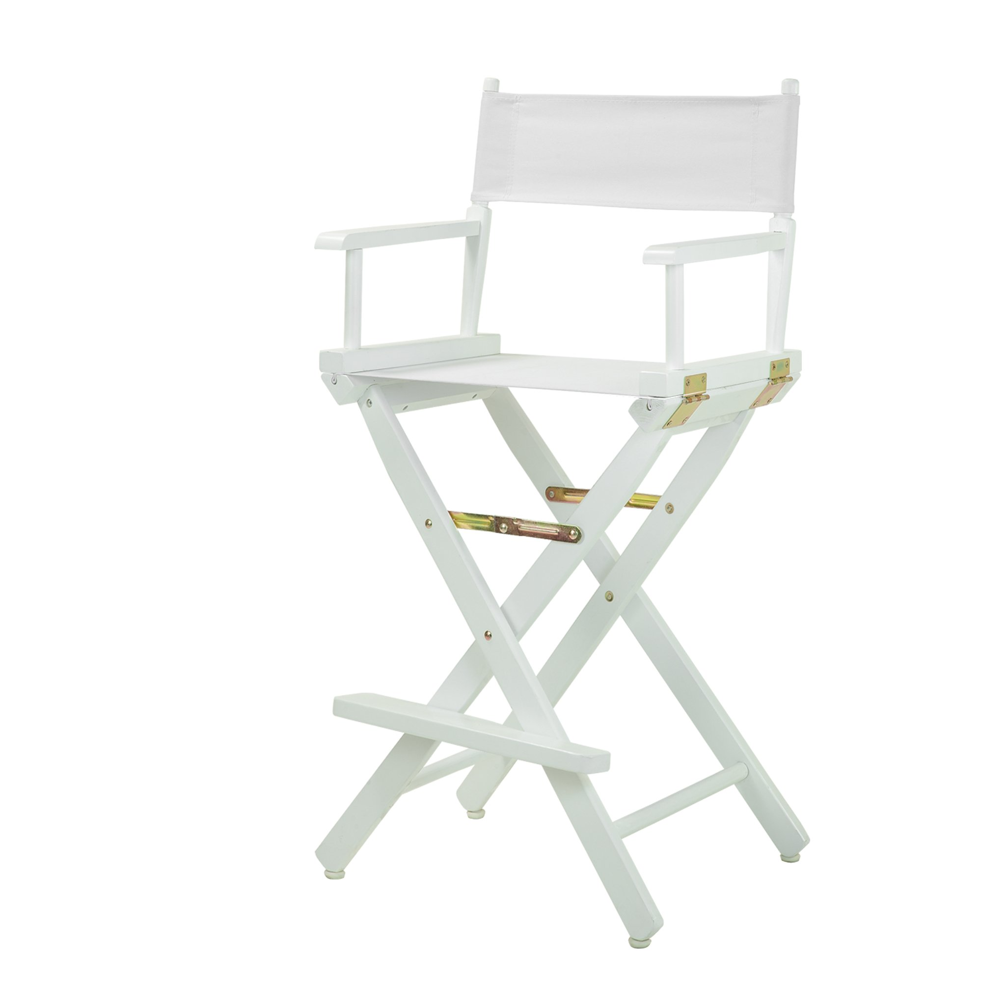Casual Home 30'' Director's Chair White Frame-with White Canvas, Bar Height
