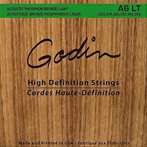 Seagull Godin A6 Phosphor Bronze Acoustic Guitar Strings Light 12-53
