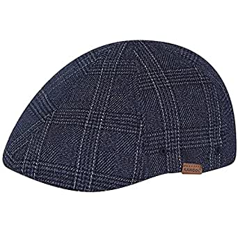 Kangol Men's Pattern Flexfit Cap Flat Caps, Navy Check, S/M