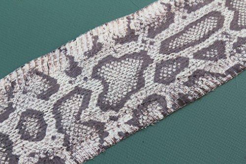 Python Printed on Snake Skin Elaphe Radiata Snakeskin Leather Hide Craft Supply Natural (5