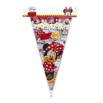 Minnie Mouse - 10 Bolsas cono gigante lunares, 30X60 cm ...