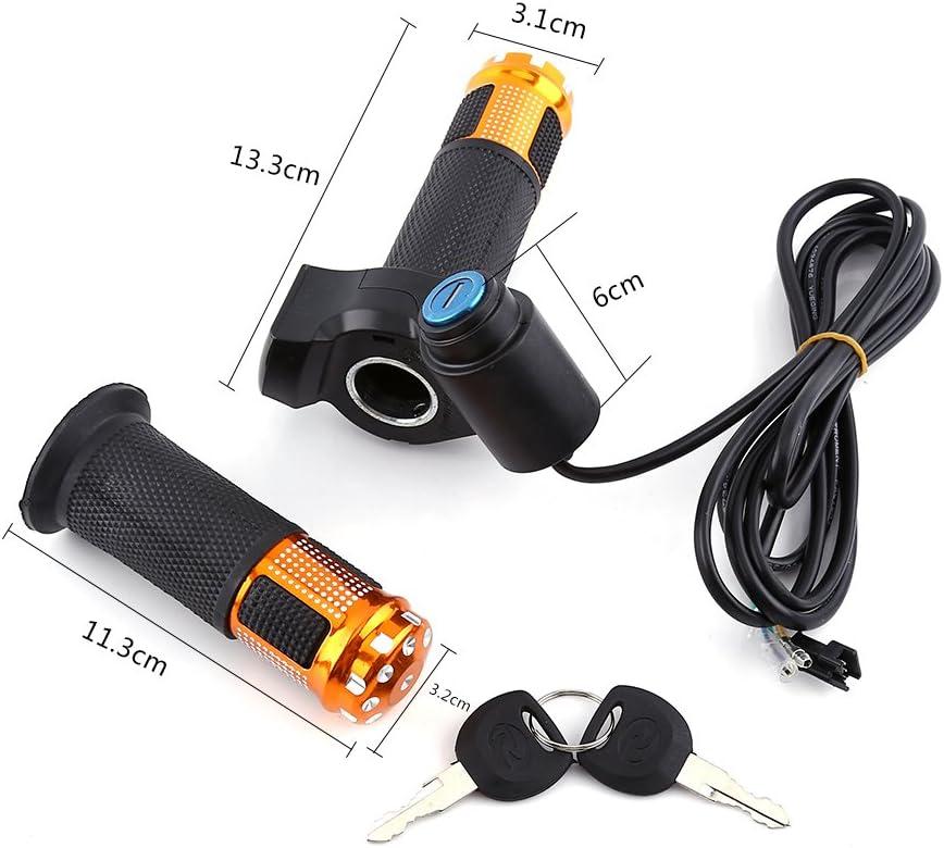 Alomejor Throttle Grip Guidon V/élo /électrique Scooter Demi Poignet Twist Grip Poign/ée dacc/él/érateur avec Affichage LED