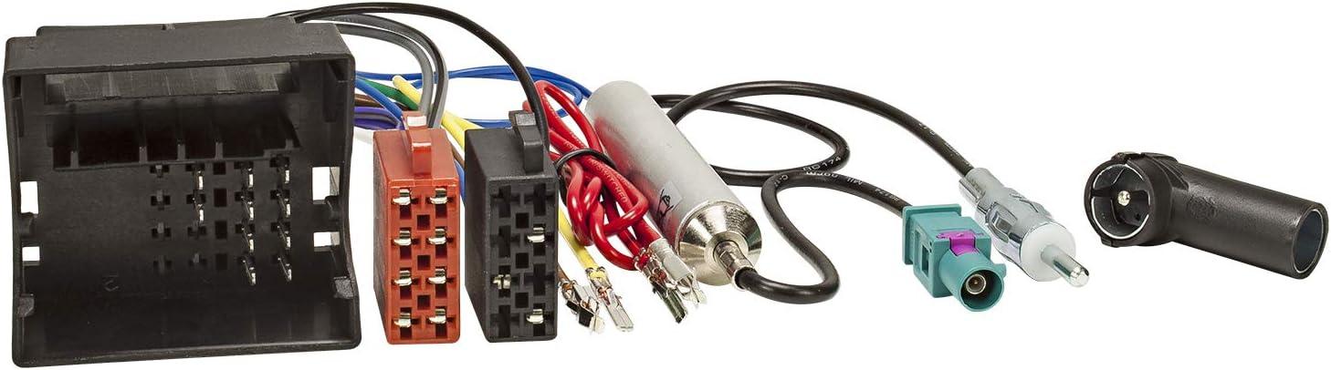 Tomzz Audio 7057 000 Radio Adapter Kabel Kompatibel Mit Skoda Seat Vw Quadlock Auf Iso Antennenadapter Mit Phantomeinspeisung Fakra Auf Din Iso Elektronik