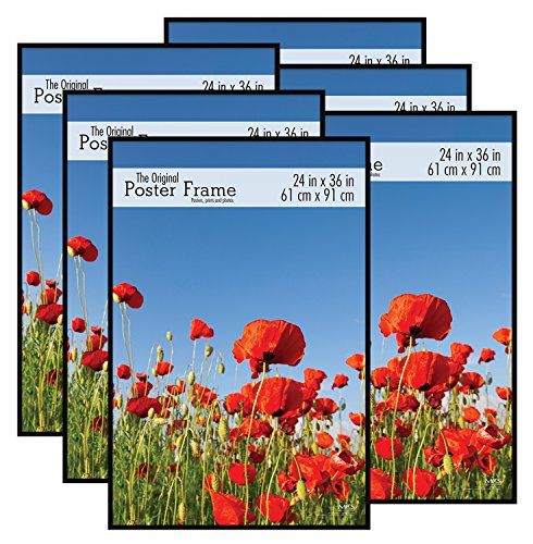 MCS 24x36 Inch Original Poster Frame 6-Pack, Black (Movie Picture Frames)