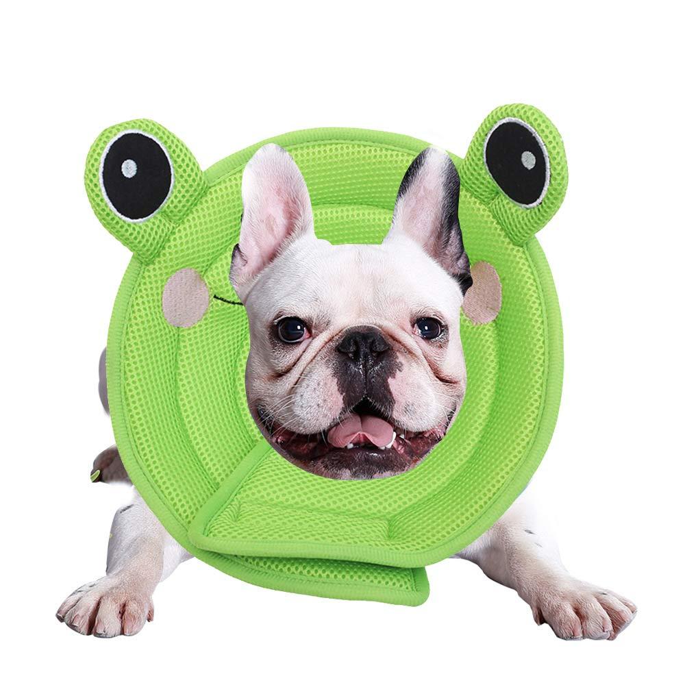 Green Medium Green Medium Pet Collar Cartoon Beauty Supplies Dog Medical Cleaning Shield Circle Elizabeth Circle Pet Collar,Green,M
