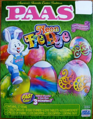 Paas Neon Tie Dye Fun Expressions Easter Egg Decorating Kit Easter Eggs Tie